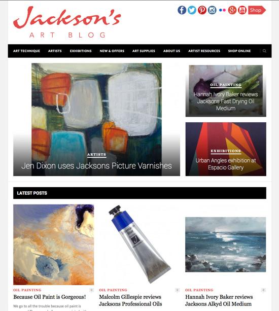 Jen Dixon featured on Jackson's Art Supplies blog
